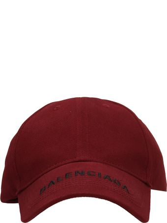 Balenciaga Red Cotton Cap