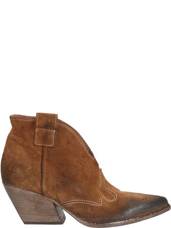 Elena Iachi Stitching Detail Ankle Boots