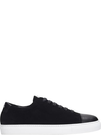 National Standard Sneakers In Black Suede