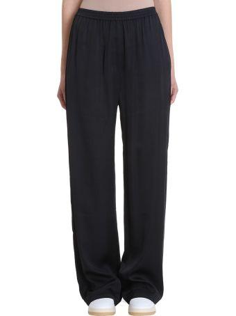 Acne Studios Parnelle Black Viscose Trousers