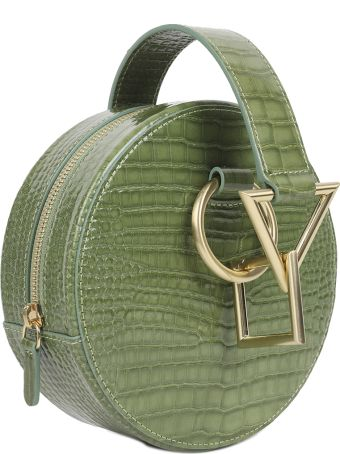 Tara Zadeh Green Croco Azar Bag