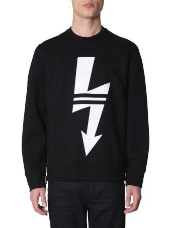Neil Barrett Sweatshirt With Arrow Bolt Print