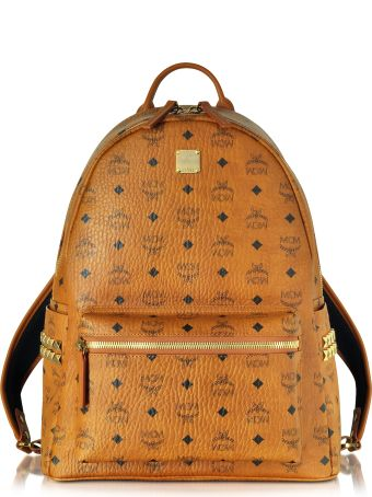 MCM Cognac Stark Medium Backpack