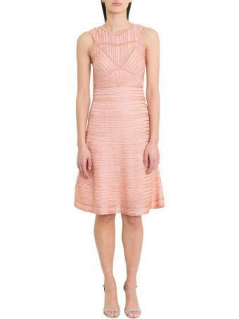 M Missoni Ribbed Lurex Knit Midi Dress