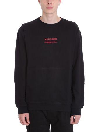 Maharishi Miltype Black Cotton Sweatshirt