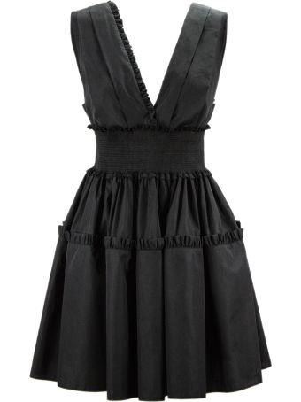 Fausto Puglisi Black Cotton Mini Dress