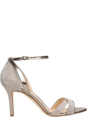 The Seller Champagne Glitter Sandals