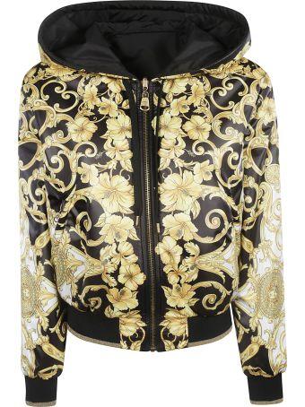 Versace Baroque Print Hooded Jacket