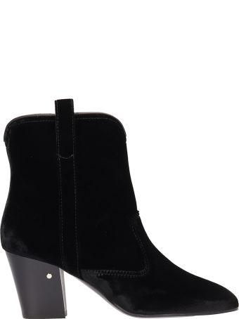 Laurence Dacade Sheryll Black Velvet Ankle Boots