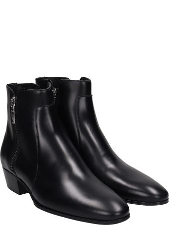 Balmain Anthos Ankle Boots In Black Leather