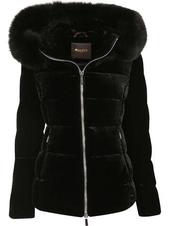Moorer Fur Trimmed Padded Jacket