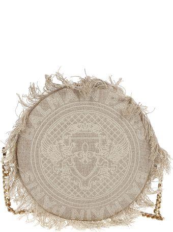 Balmain Disco Embroidered Shoulder Bag