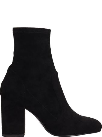 Bibi Lou Black Suede Ankle Boots
