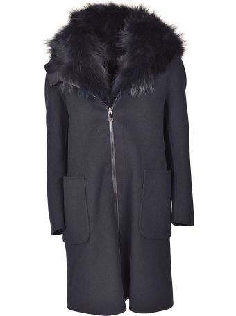 S.W.O.R.D 6.6.44 S.w.o.r.d. Fur Trimmed Coat
