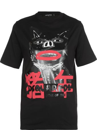 Dsquared2 T Shirt With Stamp