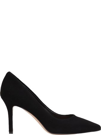 The Seller Black Suede Leather Pumps