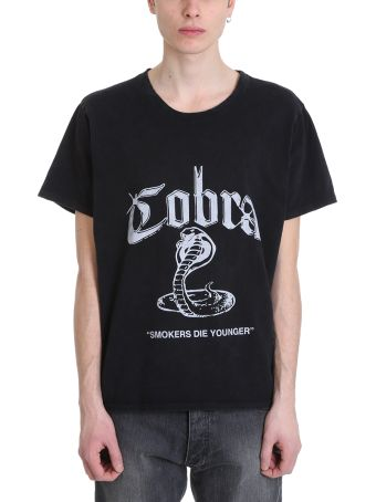 Rhude Cobra Black Cotton T-shirt