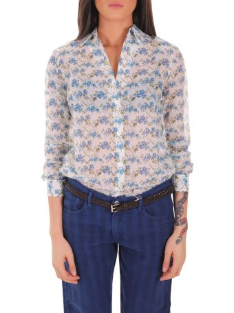 Massimo Alba Turquoise Ivy Shirt