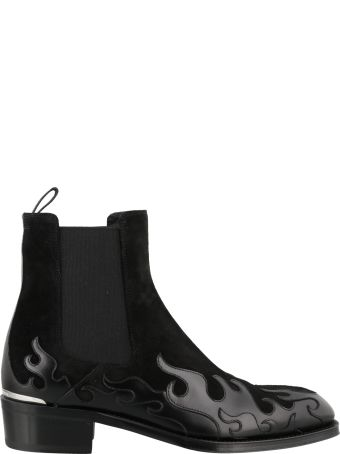 Alexander McQueen Flame Ankle Boots