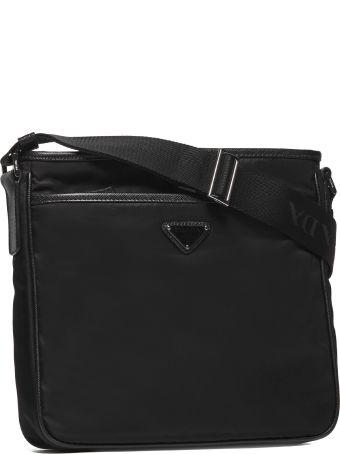 Prada Logo Plaque Messenger Shoulder Bag