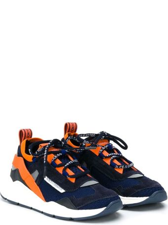 Dolce & Gabbana Blue And Orange Teen Sneakers Dolce&gabbana Kids