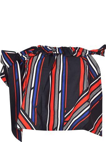 TommyXGiGi Striped Asymmetric Top