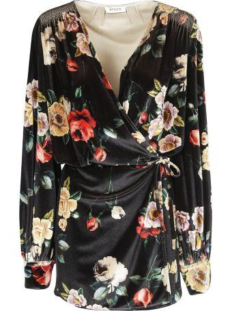 ATTICO Floral Print Mini Dress