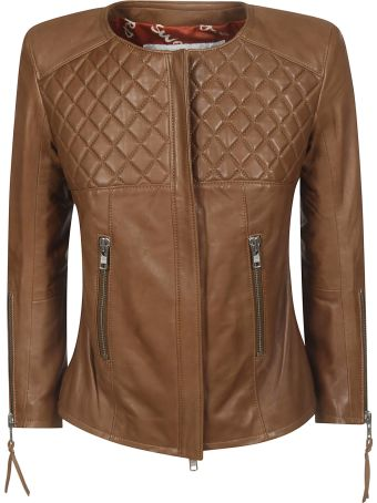 S.W.O.R.D 6.6.44 Zip-up Leather Jacket