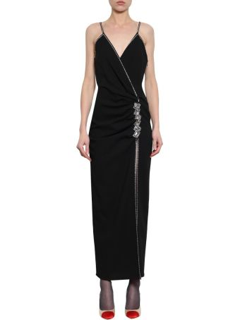 Alessandra Rich Wool Blend Crepe Dress