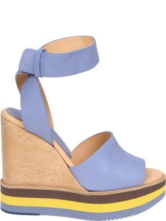 Paloma Barcelò Paloma Barcelo Ayaka Sandal In Blue Color Leather