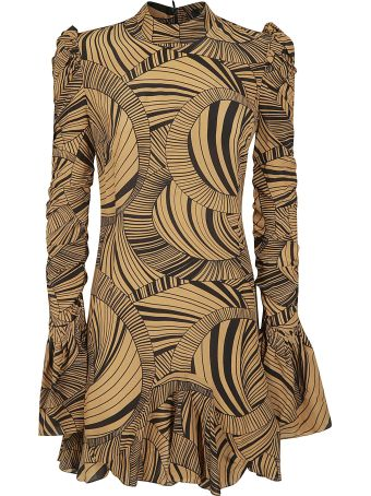 De La Vali Geometric Short Dress