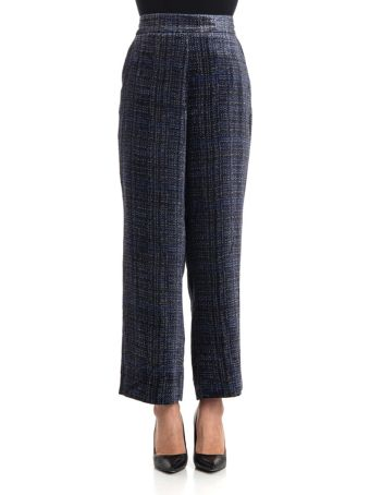 Via Masini 80 Viscose Blend Trousers