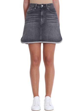Calvin Klein Jeans Black Denim Skirt