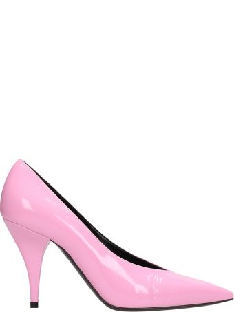 Casadei Pink Patent Leather Pumps