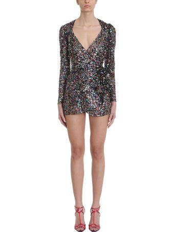 ATTICO Sheer Multicolor Sequined Mini Dress