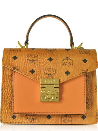 MCM Patricia Visetos Small Satchel Bag