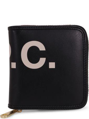 A.P.C. Black Mia Compact Wallet
