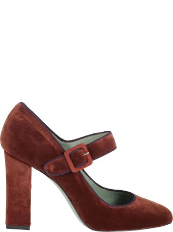 Paola D'Arcano Buckled Mary Jane Pumps