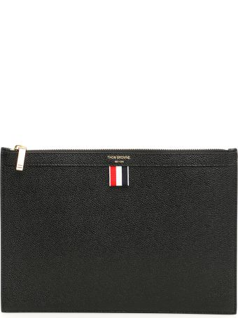 Thom Browne Grain Leather Pouch