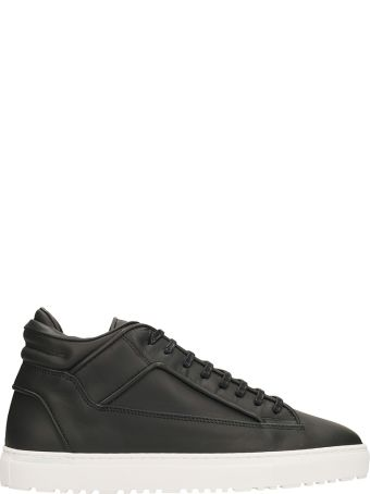 Etq Mid 2 Black Leather Sneakers