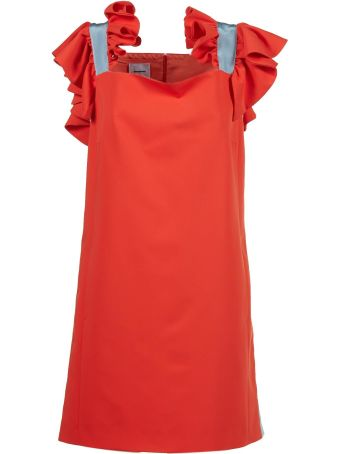 Brognano Ruffled Trim Dress