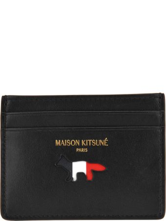Maison Kitsuné Maison Kitsune Tricolor Card Holder Leather