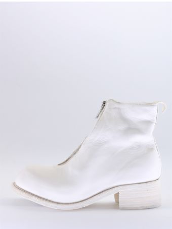 Guidi White Leather Ankle Boot