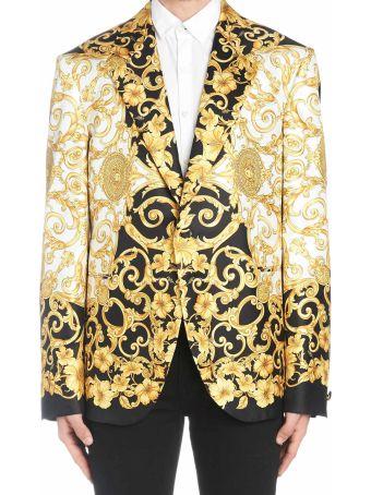 Versace 'gold Ibiscus' Jacket