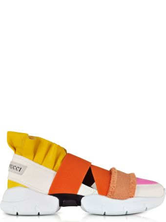 Emilio Pucci Color Block Nappa City Up Sneakers