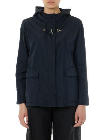 Fay Dark Blue Hoodie Nylon Jacket