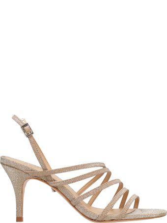 Schutz Gold Glitter Sandals