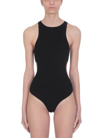 T by Alexander Wang Black Swim Bodycon Bodysuit