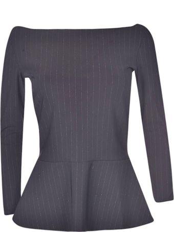 La Petit Robe Di Chiara Boni Pinstriped Top