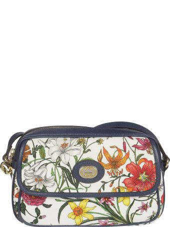Gucci Floral Print Shoulder Bag